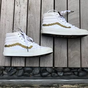 VANS x Super Nintendo White Gold High Top Sneakers